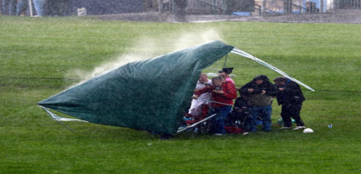 Garden Party postponed because of bad weather